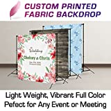True Luxury Fabric Banner - 8x8 ft - Wrinkle Free- Trade Show Banner, Step & Repeat Logo Wall, or Event Backdrop Custom Printing Service - 8 x 8 ft