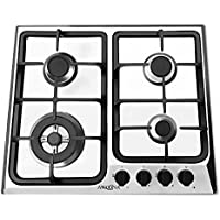 Ancona AN-21409 24 Gas Cooktop, Stainless Steel