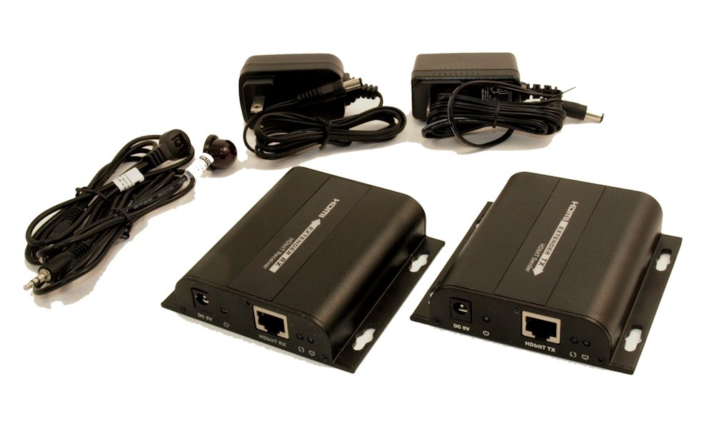 HDMI over SINGLE Cat6 Network Cable Extender Kit to 300ft w//IR Control