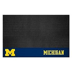 Fanmats Ncaa University Of Michigan Wolverines Vinyl Grill Mat