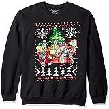 Nickelodeon Men's Retro Group Shot Ugly Christmas Sweatshirt, Black, X-Large