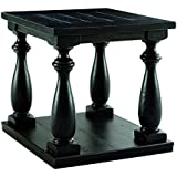 Signature Design by Ashley T880-3 Vintage Casual End Table, Black