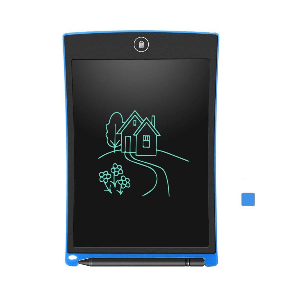 Hzna Electronic Writing Drawing Graffiti Board Rewritable 8.5 Inch Handwriting Paper Drawing Board Child Adult Home School Office (Color : Blue)