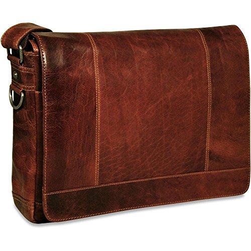 Jack George Voyager Full Size Messenger Bag Brown