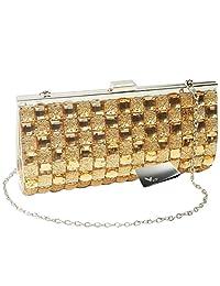 Missy K Bling Rhinestone Evening Party Clutch Purse Bag + Money Clip