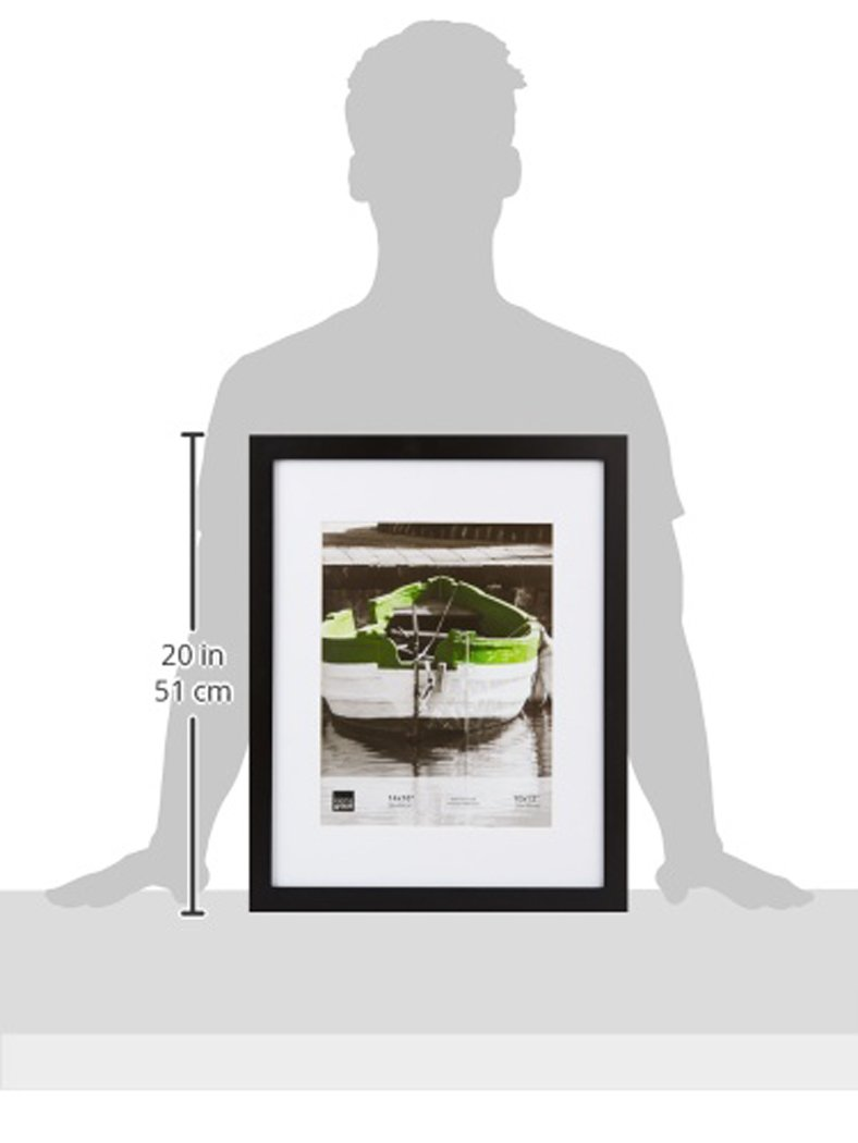 kieragrace Langford Wood Collage Picture Frame, 10 by 20-Inch Matted for 3-5 by 7-Inch Photos, Black by kieragrace (Image #4)