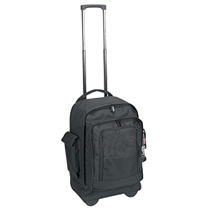 4299107ee3 Amazon.com  School College Rolling Backpack on Wheels- Black ...