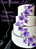 24 PURPLE Lavender Decorative Wafer Paper Flowers © 3 Sizes 1