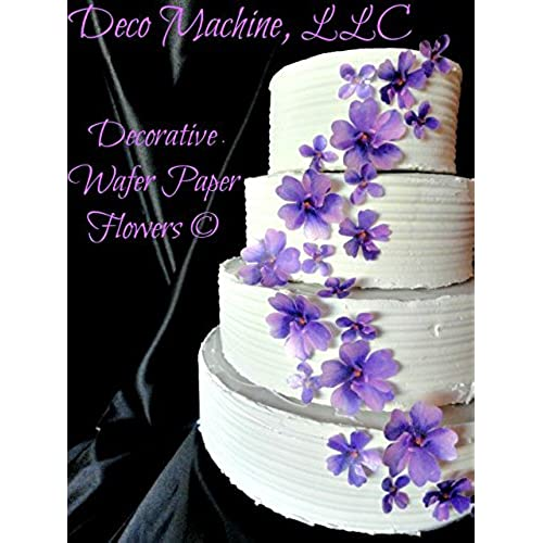 wedding cake with purple flowers wedding cake flowers 26946