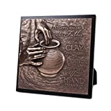Lighthouse Christian Products Moments of Faith The Potter Sculpture Plaque, 8 3/4 x 8 3/4''