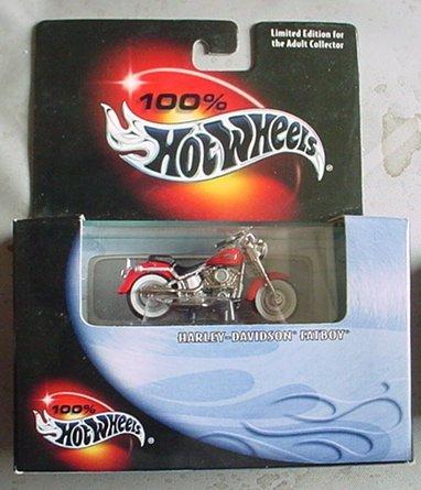 Hot Wheels 100% Harley Davidson Fatboy - 1990 Toys Motorcycle Kids