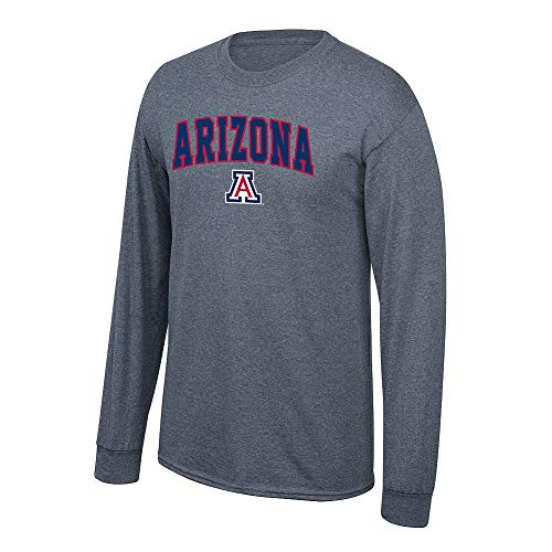 Elite Fan Shop NCAA Men's Arizona Wildcats Long Sleeve Shirt Dark Heather Arch Arizona Wildcats Dark Heather Large ()