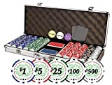 Da Vinci Professional Casino Del Sol Poker Chips Set with Case (Set of 500), 11.5gm