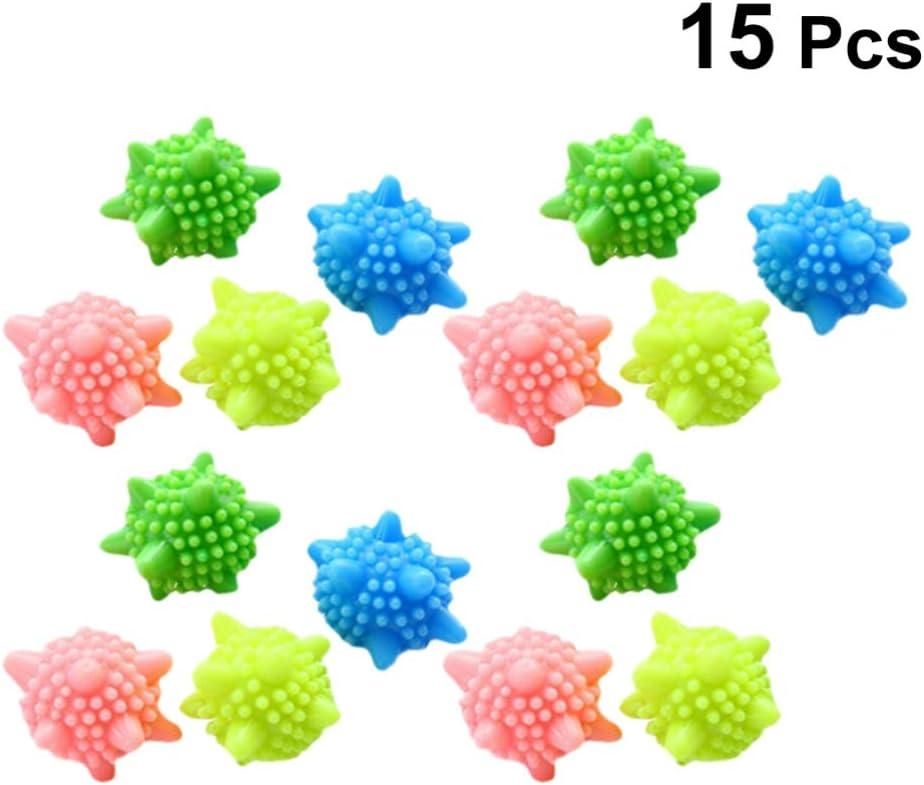 TOPBATHY 15 Piezas Bolas de Lavadora Bola de Lavandería Sólida Secadora Reutilizable sin Enredos Recogedor de Pelusa para Lavadora de Ropa (Color Aleatorio)