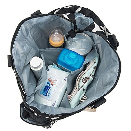 mengma 7pcs/Set Piedra Patrón Tela impermeable cambiador de pañales bolsa de cochecito de bebé Mummy de viaje