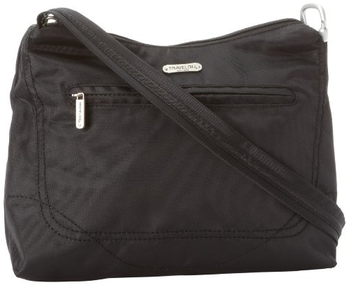 Black One Size Theft Hobo Bag Classic Travelon Anti Black Uqvfn18