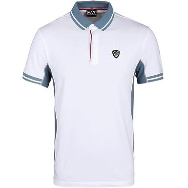 Emporio Armani - Polo - para Hombre Blanco Blanco Large: Amazon.es ...