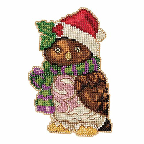 Owl Beaded Counted Christmas Holiday Cross Stitch Kit Mill Hill 2016 Jim Shore Winter Series - Jim Holiday