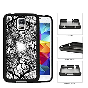 Black and White Natural Earth Tree Veins Hard Rubber TPU Cell Phone Case Cover Samsung Galaxy S5 I9600