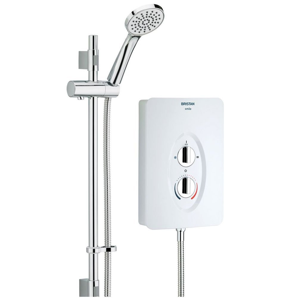 Bristan SM285 W 8.5 kW Smile Electric Shower - White