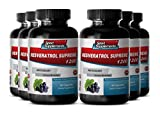 Pure Herbal Supplement - Resveratrol Supreme 1200mg Maximum Strength - Red Wine Supplements (6 Bottles)