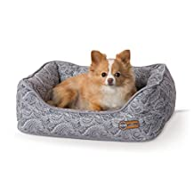 "K&H Manufacturing 1800 Heated & Cooling Orthopedic Bolstered Pet Bed, Small (17"" x 20""), Gray"