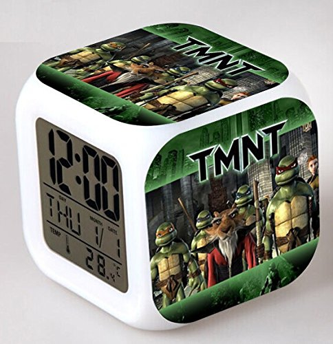 Enjoy Life : Cute Digital Multifunctional Alarm Clock With Glowing Led Lights and Ninja Turtles sticker, Good Gift For Your Kids, Comes With Bonuses (03) by EnjoyLife Inc