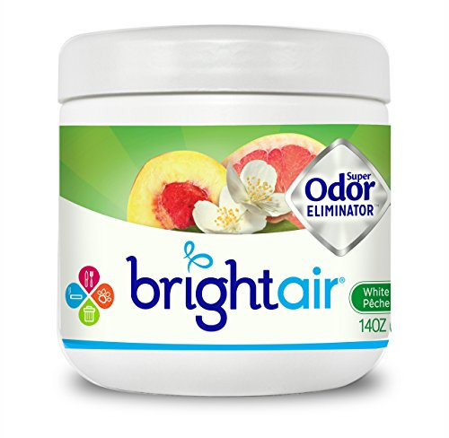 Bright Air Solid Air Freshener and Odor Eliminator, White Peach and Citrus, 14 Ounces