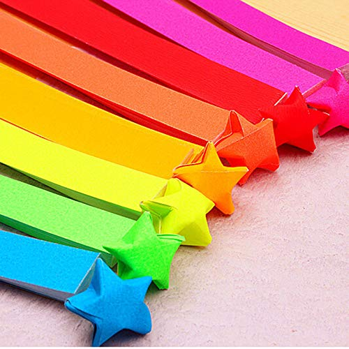 Party DIY Decorations - 80pcs Lot Party Handmade Handcraft Origami Lucky Star Paper Strips Crafts Quilling Decoration Random - Paper Star Glow Star Paper Stripe Bulb Rainbow Paper Ribbon Choco ()