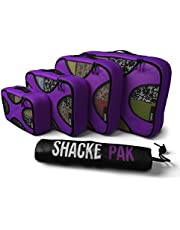 Shacke Pak - 5 Set Packing Cubes - Travel Organizers with Laundry Bag (Orchid Purple)