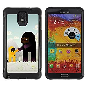 Hybrid Anti-Shock Defend Case for Samsung Galaxy Note 3 / Cute Characters