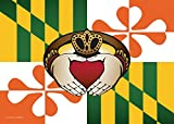 Citizen Pride Maryland Irish Claddagh Large House Flag by Joe Barsin, 28×40 For Sale