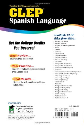 Best Test Preparation for the CLEP Spanish Language by Brand: Research Education Association