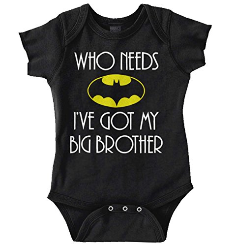 My Daddy is Bat Cute Fathers Day Comic Hero Romper Bodysuit Black