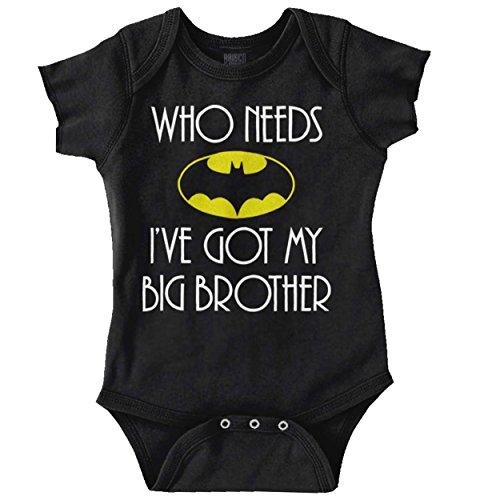 Who Needs Bat Big Brother Cute Nerdy Hero Romper Bodysuit
