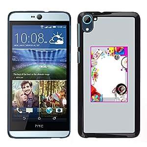 HTC Desire 826 dual Único Patrón Plástico Duro Fundas Cover Cubre Hard Case Cover - Kids Fun Party Birthday Diy
