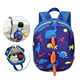 3D Cartoon Kids Harness Backpack, Vandot Anti-lost Leash Safety Strap School Dinosaur Walking Travel Safety Lunch Bag Kindergarten Preschool Toddler Zoo Pack Rucksack Backpack for 1-3 Girls Boys