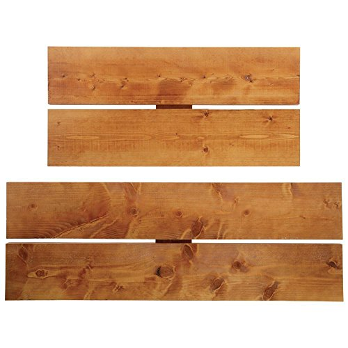 Wood Shelves Rectangular Light Oak Pine by Hubert