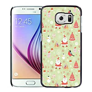 New Personalized Custom Designed For Samsung Galaxy S6 Phone Case For Carton Merry Christmas Illustration Phone Case Cover