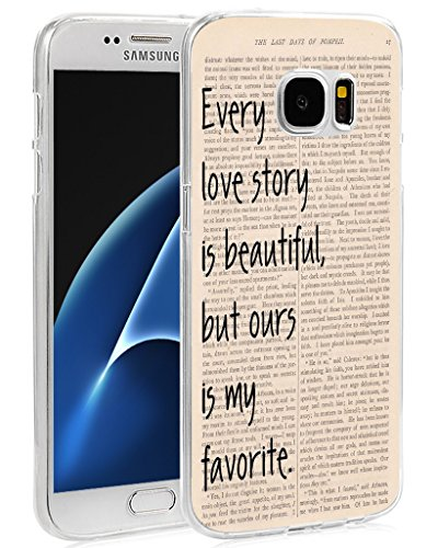 Case For Samsung Galaxy S7 Quotes About Love  Cclot Samsung Galaxy S7 Cover Protective Vintage Design Tpu Protective Silicone Cover