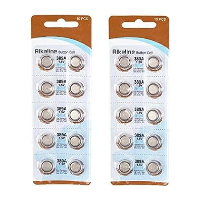 TOPPOWER Button Cell Battery 1.5V 389A / LR1130 / LR54 / G10 / 189 2-Pack