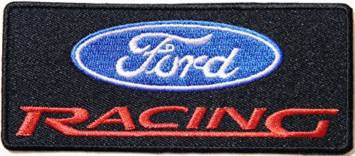 Aluminum Oval Mufflers (FORD V8 Logo Sport Car Racing Patch Sew Iron on Applique Embroidered T shirt Jacket Custom Gift BY SURAPAN)