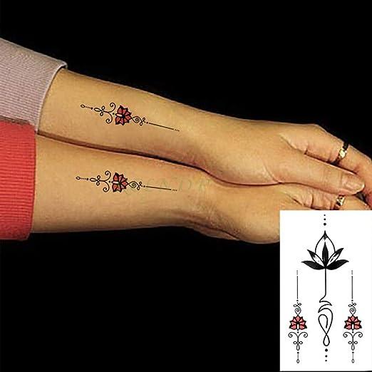 5 Piezas Etiqueta engomada del Tatuaje a Prueba de Agua en la ...