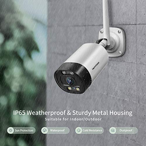 HeimVision 3MP Outdoor Camera Wireless, 1536P 2K Security Camera Outdoor with Floodlight, Colored Night Vision, 2-Way Audio, Motion, Sound, Human Detection with Siren, Message Alert, Waterproof, HM311