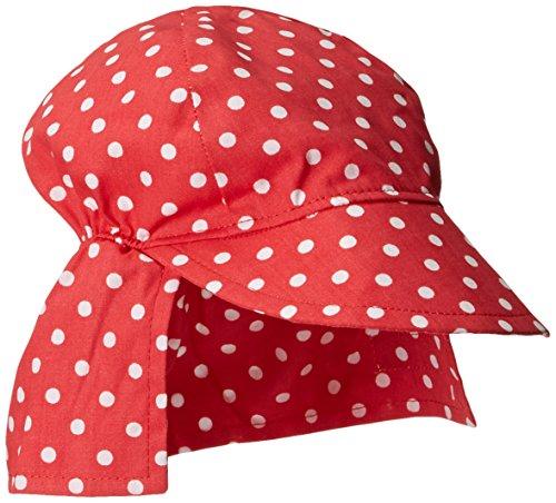Flap Happy Dots (Flap Happy Baby Girls' UPF 50+ Original Flap Hat, Red Dot, X Small)
