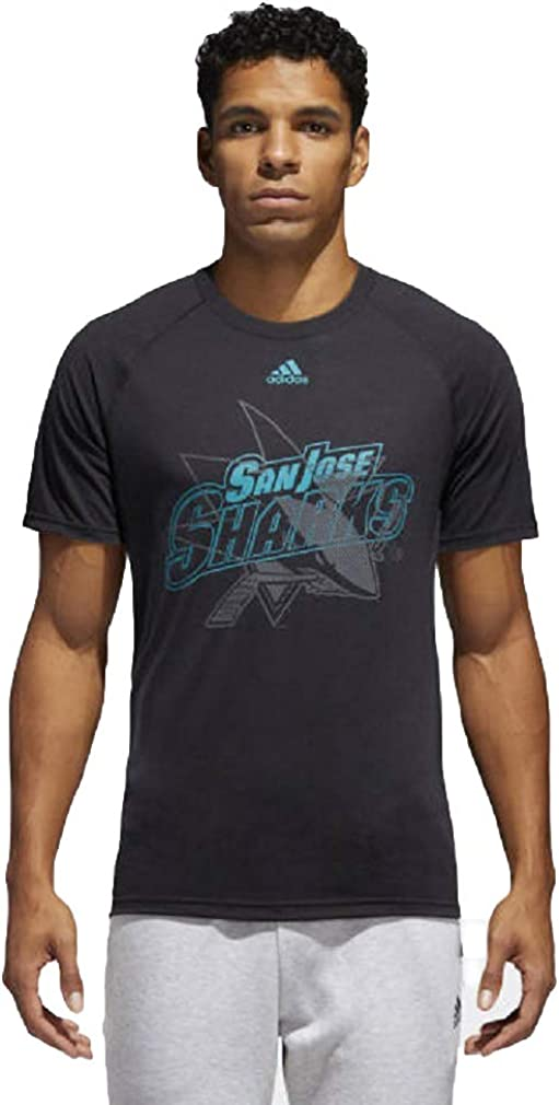 adidas Men's NHL San Jose Sharks T Shirts