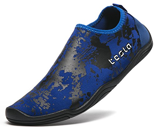 Tesla Uomo Donna & Bambino Slip-on Quick-dry Minimal Beach Aqua Shoes A101 / A102 Tf-a102-nvy