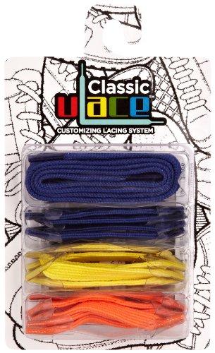 U-Lace - In Line Multi Pack, Stringate unisex, Multicolore(Mehrfarbig (Brights)), taglia unica