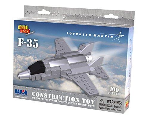 daron-worldwide-trading-bl14189-lockheed-martin-f-35-construction-kit-124-piece