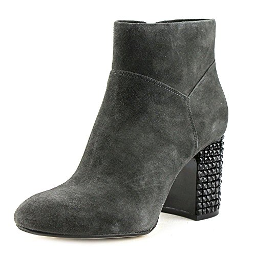 Michael Kors Womens Arabella Leather Round Toe Ankle Fashion Boots Charcoal MFH6Ot1Mgo